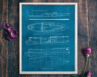 Nautical Print Decor, Ship Wall Art Blue Print, PRINTABLE Lake House Decor, Instant Cabin Sign, Instant Download Ocean Art (#16532b)