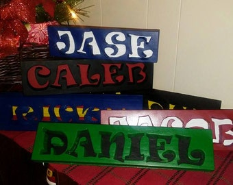 Painted Wooden Name Sign