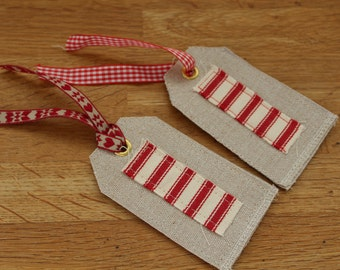 Fabric Gift Tag by The Linen Quarter