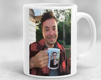Jimmy Fallon Mug, Ew Mug, Justin Timberlake Mug, Jimmy Fallon and Justin Timberlake, Funny Mugs P48