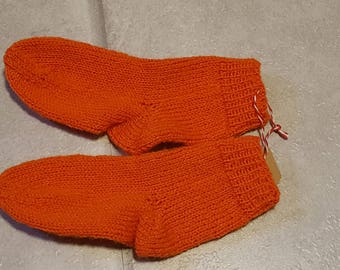 Children's socks, wool socks, self-knitted, Größe16/17