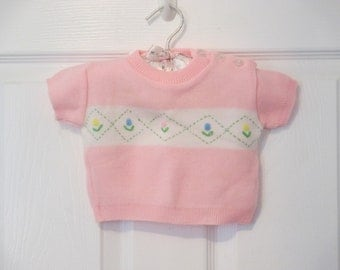 Baby Girl's  Pink Knit Sweater