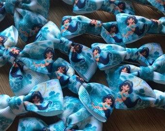 """Disney princess """"Jasmine"""" hair bow clips"""