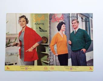 Vintage 1960s knitting pattern book / Style Knits by Patons Vol 17 / mod styles