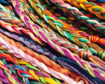 NEW! Handmade! Lot of 10 multicolor braid friendship bracelets
