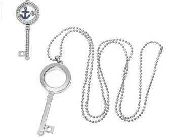 Key locket m/FREE necklace