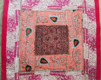 Decorative pillow cover cushion cover cushion cover patchwork India sequins ethnic placemat wall hanging boho decor ethnic decor