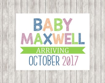 Digital Pregnancy Announcement | Baby Announcement | Printable
