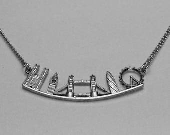 City of London necklace with Big Ben, the London Eye, Tower Bridge, Westminster Abbey and St Mary Axe.