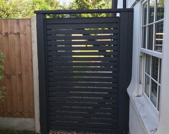 Made to order recycled fence post gate