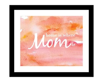 Home is where mom is,  Mother's Day Printable