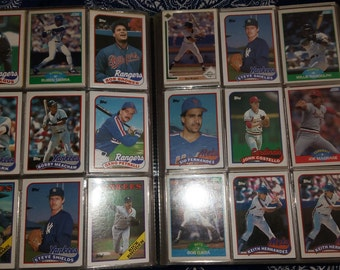 Collection of sports trading cards