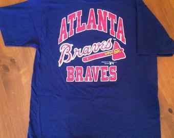 Atlanta Braves Vintage 1990s Bike T-Shirt