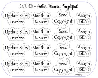 Author Planner Stickers - Word Sheet 14