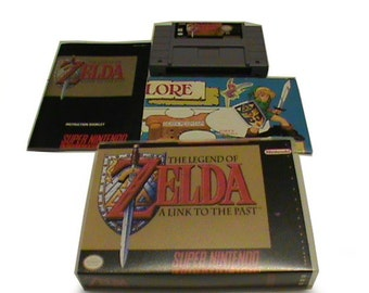 The Legend of Zelda, Link to the Past - Super Nintendo Game (SNES) - Complete with Map, Instructions, Game and Case - Preowned