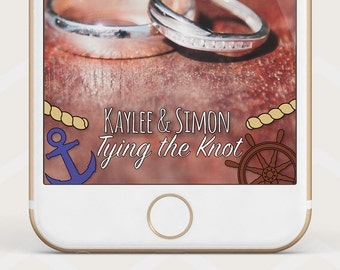 Nautical Wedding Geofilter, Tying the knot Wedding geofilter, nautical geofilter wedding, wedding snapchat geofilter, anchor geofilter W28