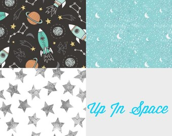 Up In Space Bibdana Three Pack Set or Pick
