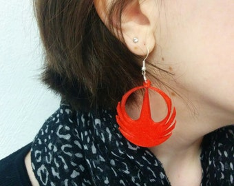 Earrings Star Wars Rogue - Rebel Alliance symbol - One printed in 3D