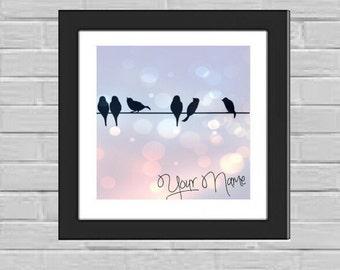 Birds on a wire custom print