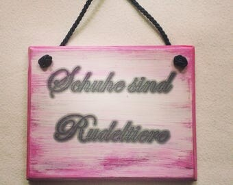 Mural from wood, wall decoration in the Shabby-Chic image with saying, gift for women