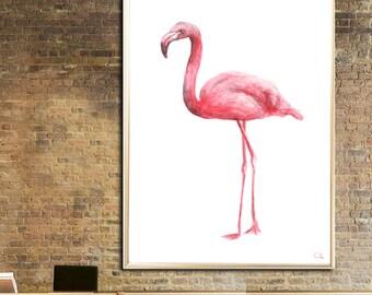 Flamingo watercolor print Flamingo Art print Flamingo Wall decor Flamingo painting Flamingos poster Flamingo wall decor flamingo home decor
