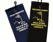Hole In One Personalised Golf Towel