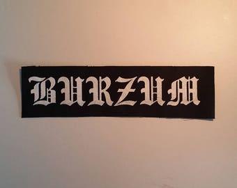 Burzum patch black metal