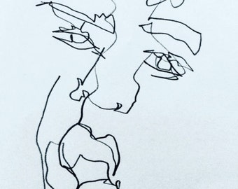 Blind Contour: Looking at You