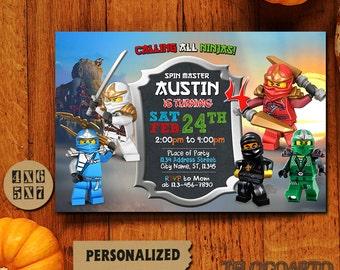 Ninja Lego / Ninjago Invitation / Ninjago Birthday Invitation / Ninjago Birthday / Ninjago Birthday Invitation / Ninjago Party / Ninjago