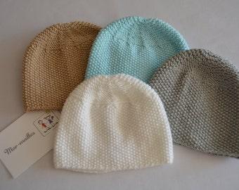 Baby bonnets.