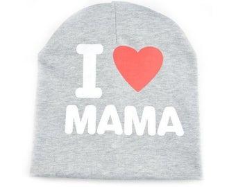 """Fun Kid Beanie """"I Love Mama"""""""