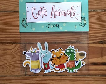 Animal cookies stickers - Handmade