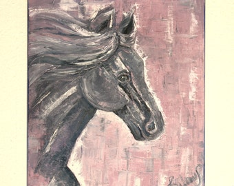 The Wild Horse - Oil Painting, Hand Painted Horse 50 x 60 cm