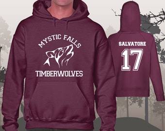 The Vampire Diaries Salvatore 17 Timberwolves Mystic Falls Hoodie Unisex Women's Men's