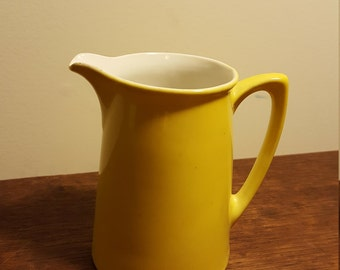 Three Crown China yellow pitcher