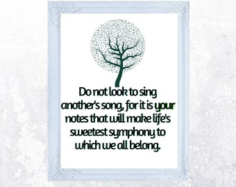 Sing Your Own Song | Instant Download | Wall Art