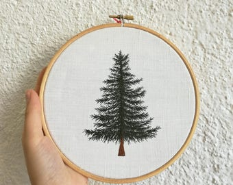 Embroidered tree - Hoop embroidery - Boderie