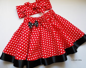 Minnie mouse girl birthday, baby clothing, Disney, dress, red polka dots Minnie mouse tutu red black Minnie mouse, Minnie mouse costume