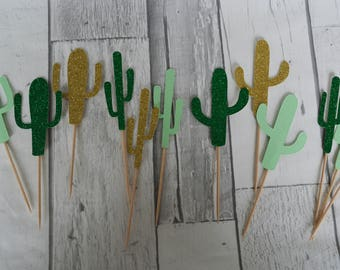 Cactus Cupcake Toppers, Cactus Party, Mexican Party, Fiesta Decor, Fiesta Theme, Cactus Cake Topper, Cinco De Mayo Decor, Cake Toppers
