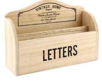 Vintage wooden letter rack