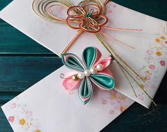 kanzashi butterfly alligator clip