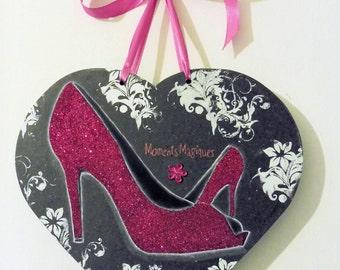 "Heart wood ""shoes, pumps"" fuchsia"