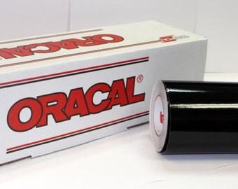 "Black Oracal 651 24"" x 10' Roll * Sign Vinyl * Decal Vinyl"