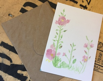 Watercolor Card-Flower