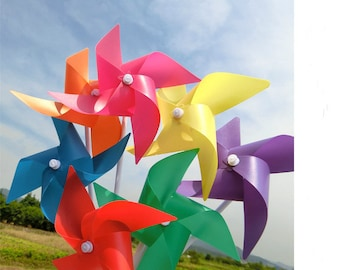 50pcs \100pcs\200pcsParty Wedding Pinwheels  Pinwheels Rainbow