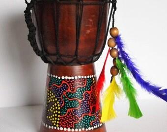 Hand made Djembe drum.