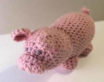 Shy Piglet - Crocheted Toy