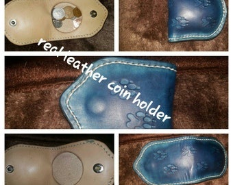 Real leather coin holder