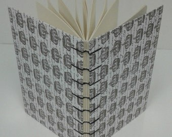 Handstitched Hardcover  Journal, Crown Style Cover, Coptic Stitch Binding