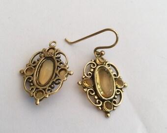 9ct Art Nouveau Citrine Earrings